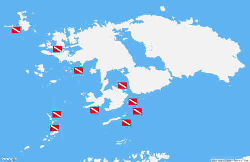 Map of North Raja Ampat